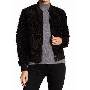 NWT John + Jenn Faux Fur Shearling Bomber Jacket